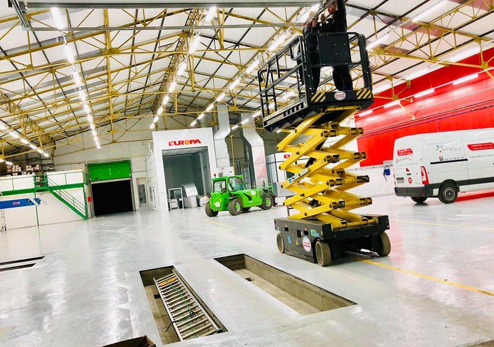 Installation électrique pour la carrosserie Salengro à Louviers